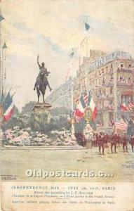 Fourth of July Painting by J.F. Bouchor American Red Cross on Back Unused min...