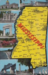 Map Of Mississippi With Multi Views