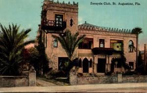 Florida St Augustine The Zorayda Club 1916 Curteich