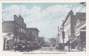 CORAOPOLIS, Pennsylvania ,1910s ; West on Fifth Avenue