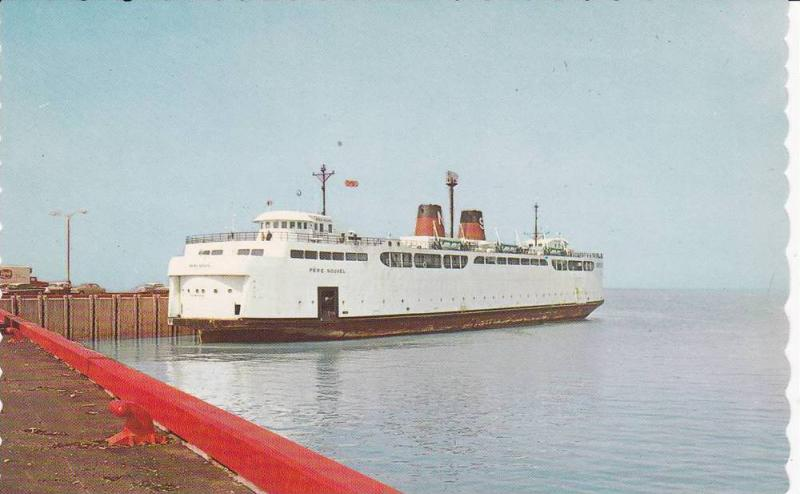 Ferry Boat PERE NOUVEL , Rimouski - Baie Comeau , Quebec , Canada , 50-60s