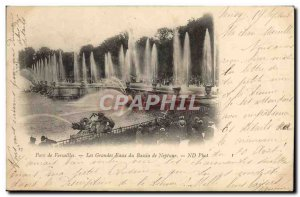 Old Postcard Versailles Grandes Eaux Basin of Neptune