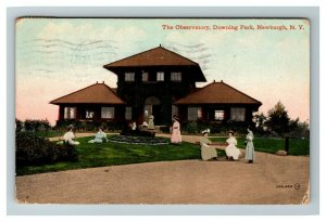 Vintage View of The Observatory, Downing Park, Newburgh NY c1912 Postcard L24