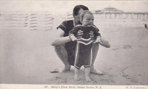 New Jersey Ocean Grove Baby First Bath 1907