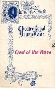 Crest Of The Wave Musical Ivor Novello SS Queen Anne Drury Lane Theatre Progr...