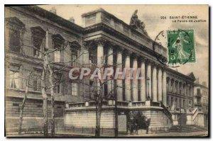 Postcard Old Saint Etienne Le Palais de Justice