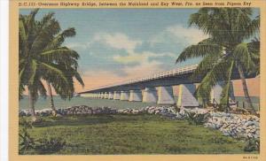 Overseas Highway Bridge To Key West As Seen From Pigeon Key Florida Curteich