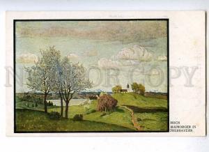 187998 May morning in Upper Bavaria by HOCH Vintage postcard