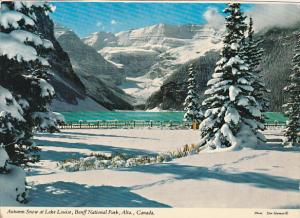 Canada Autumn Snow At Lake Louise Alberta