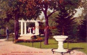 pre-1907 MANNHEIMER MONUMENT, ST. PAUL, MN. cpyrt 1905 by Sweet Bros