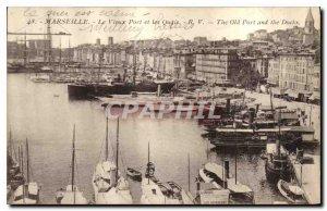 Postcard Old Port Marseille Vieus and Boat Quays