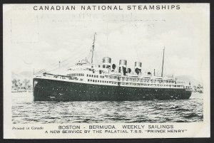 Prince Henry of Canadian National Steamships CANADA Unused c1930s