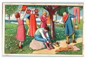 Clothes Tree, Schlaraffenland, Echte Wagner German Trade Card *VT31R