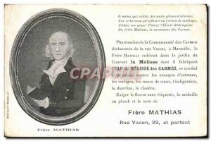 Old Postcard Brother Mathias Rue Vacon Pharmacist of the Carmelite Community