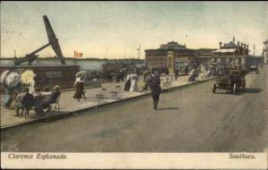 Southsea UK Clarence Esplanade c1910 Postcard