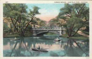 CHICAGO , Illinois , 1900-10s ; Cement Bridge, Garfield Park