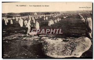 Old Postcard Dolmen Menhir Carnac alignments Menec