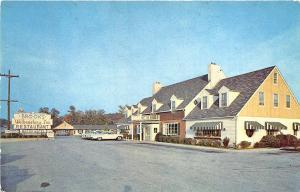 White Marsh MD Brook's Williamsburg Inn Drive-In Restaurant Old Cars Postcard