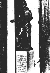England Winchester Cathedral William Walker Statue