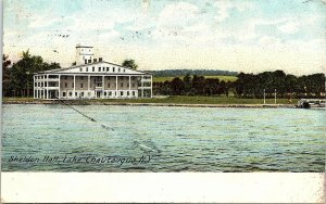 Postcard NY Lake Chautauqua Sheldon Hall 1910 A3