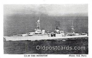 CA30 USS Houston, Heavy Cruiser Sunk by Japanese WarShip Strait of Sunda Unused