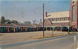 Paris Arkansas~Downtown Peoples Motel~1973 Postcard
