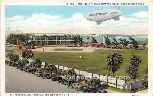 The Blimp Over Braves Field, Waterfront Park St Petersburg, Florida, FL, USA ...