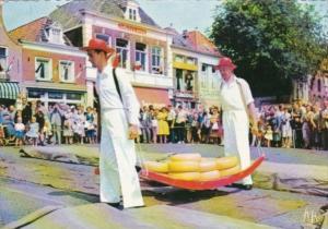 Netherlands Alkmaar Kassmarkt Cheese Market 1971