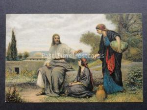 Religious: JESUS - Maria & Martha by EGMS Series 9060 - Old Postcard