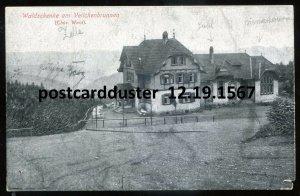 1567 - GERMANY Veilchenbrunnen 1910s Gasthof Waldschenke Near Oberhof
