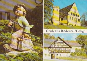 Germany Gruss Aus Roedental Coburg Entstehungsort der Hummelfiguren