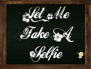 Set of 6  Postcards Blackboard Greetings - Let Me Take A Selfie - Pop Culture