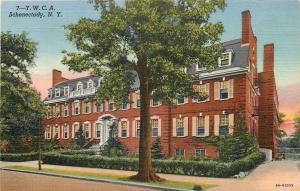 Schenectady New York~YWCA~Young Women's Christian Association~1939 Linen PC