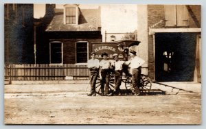 Real Photo Postcard~HE Heyer Bakery Delivery Wagon Boys~c1910 RPPC