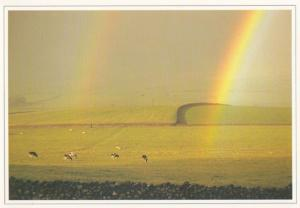 A Rainbow On Settle Yorkshire Dales Postcard