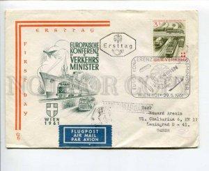 290609 AUSTRIA USSR 1961 transport conference TRAIN ship plane bus airmail FDC