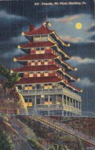 Pennsylvania Reading The Pagoda Mount Penn 1950 Curteich