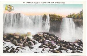 American Falls of Niagara and Cave of the Winds..