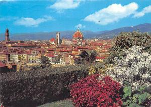 Italy Firenze General view Panorama Flowers Church Eglise