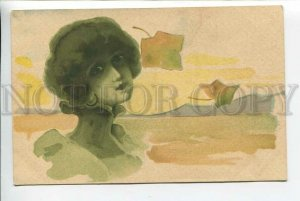 3184656 ART NOUVEAU Head of BELLE Autumn KIRCHNER Vintage PC