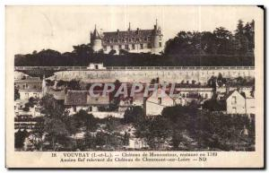 Old Postcard Vouvray Chateau Moncontour restores former fief of the Chateau d...
