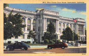 Kern County Court House, Bakersfield, California, Linen Postcard, Unused