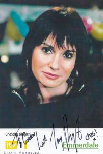 Chastity Dingle Emmerdale Farm Hand Signed Cast Card Photo
