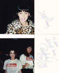 Gulf War Tracey Elvik Rachel Garley Page 3 Girl 3x  Hand Signed Card & Photo s