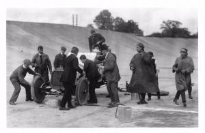 Postcard Nostalgia 1912 Brooklands Races Surrey Mr Lisle 15.9 Star Repro Card