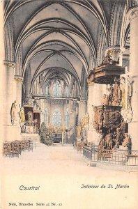 Interieur de St Martin COurtrai Belgium Unused
