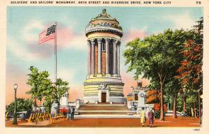 US    PC1630  SOLDIERS' & SAILORS' MONUMENT, NEW YORK CITY