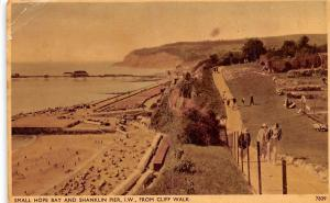 Small Hope Bay and Shanklin Pier Isle of Wight from Cliff Walk Promenade