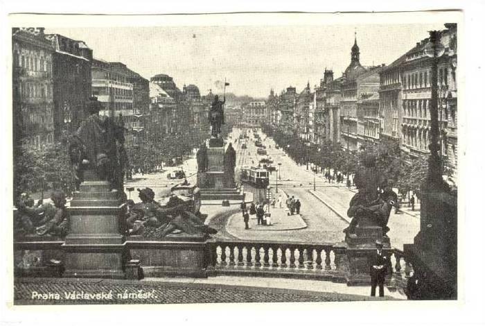 Praha. Vaclavske namesti,Czech Republic,20-40s