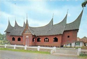 Indonesia Rumah Adat Batusangkar (Sumatera Barat) Traditional House Batusangkar